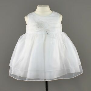 Girls Flower Embroidered Sequined Formal Party Prom Dress Bridesmaid White Baby