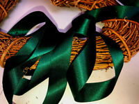 Berisfords Shade 969 Forest Green Double Satin Ribbon 3/7/10/15/25/35/50mm Width