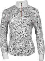 Page & Tuttle Gradient Animal Print Mock Neck  Athletic   Outerwear White Womens