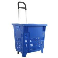 Einkaufstrolley, Einkaufskorb mit Rollen 55L Blau