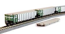 KATO 1064651 N Scale BURLINGTON NORTHERN Protein Gondola 8 Car set #2 106-4651