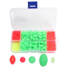 700Pcs Plastic Beads Oval/Round Hard Fishing Beads Fishing Lure Tackle Eggs