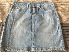 TRIBAL DENIME Jean Skirt Knee Length Light Wash Ladie's 30/10