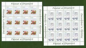Kosovo 2003 UNMIK - Weihnachten + Neujahr - Nr. 16-17 Kleinbogen ** Mi. 180,00