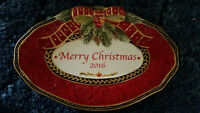 """FITZ and FLOYD 'MERRY CHRISTMAS 2016' (DAMASK HOLIDAY) Oval Plate (9 3/4"""")"""