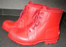 Hunter Original Rubber lace up Wellies Wellingtons Rubber Gummi Gay. New! Rare!