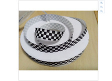 Black and White Checkered Ribbon Black and White Grid Racing Cars 1m long