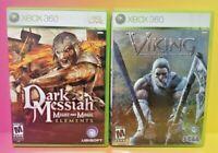 Viking Battle Asgard + Dark Messiah - MicroSoft XBOX 360 Game Lot Tested Working