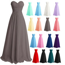 Formal Women Long Bridesmaid Dress Wedding Party Prom Evening Cocktail Ball Gown
