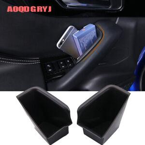 Car Inner Door Handle Armrest Storage Box For Jaguar F-PACE 2016-2019 2pcs