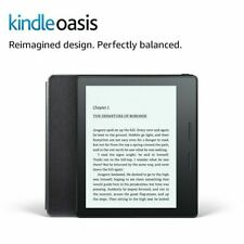 Kindle Oasis 8th Gen bundle with Leather Charging Cover, Wi-Fi, Cellular, Black