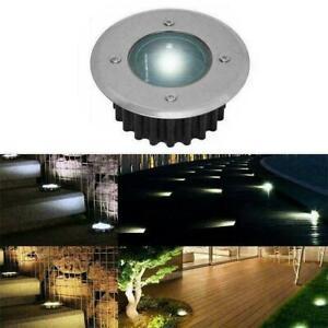 1Pc Solar Powered Garden LED Decking Floor Spot Lights J0Y8 Lamp F9J8 SELL