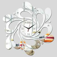 Mirror Wall Clock Diy 3d Sticker Home Modern Large Decor Surface Office Arts New