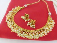 Indian Fashion Jewelry Bollywood Necklace Set Ethnic Gold Plated Traditional Set