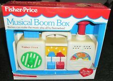 Vintage Fisher Price Musical Boom Box En Embalaje Original
