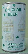 AN CLAR BEER, ss Pulltab CAN, Clare, Iowa, Schell, New Ulm, MINNESOTA 1982 IRISH