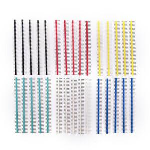 30x 40Pin Connecteur Mâle 2,54mm Pitch Pin Header Strip Singles Row Kit pour -xd