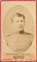 CDV photo Soldat - Regensburg 1880er