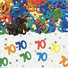 70th Birthday TABLE CONFETTI ~ AGE 70 Party TABLE Decorations