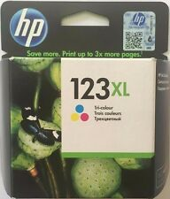 HP 123XL High Yield Tri-color Original Ink Original Cartridge (F6V18AE) NEW