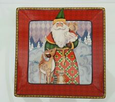 Christmas Platter - Square - Holiday Traditions by Jim Shore