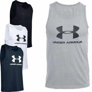 Under Armour Tank Vest Tops Sportstyle Logo Sleeveless Sports Gym Tanks Vests