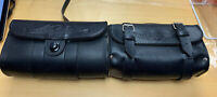 Lot Of 2 Small Leather Harley Davidson Bike Bags