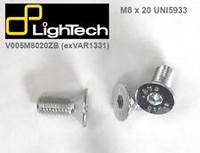 2 bulloni/viti testa piatta svasata M8x20 Lightech ricambio pedane V005M8020ZB