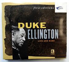 DUKE ELLINGTON Live and Rare 3 CD Digipack BLUEBIRD RCA First Editions cdx80
