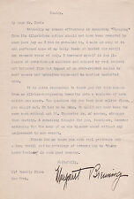 Critic MARGARET BREUNING 1920s SIGNED LETTER to ROCKWELL KENT, Annotated by KENT