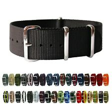 HNS Premium Ballistic Military Nylon Solid SS Watch Replacement Strap / Band