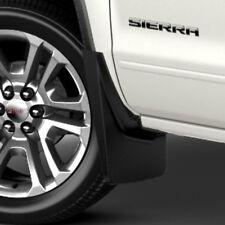 14-18 GMC Sierra Splash Guards / Mud Flaps- Front & Rear- Black Molded- GM New #