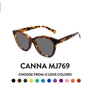 Maui Jim Canna MJ769 Sunglasses - Light Brown Tortoise Shell Frames