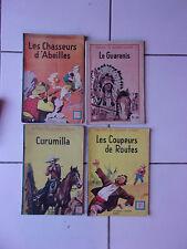 lot 4 oeuvres de GUSTAVE AIMARD de 1945 le Guaranis / curumilla / coupeurs route