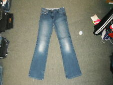 """Marks & Spencer Bootcut Jeans Size 10 Leg 30"""" Faded Dark Blue Ladies Jeans"""