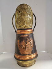 Vintage Brass and Copper Scuttle Bucket/Umbrella Stand, 20.25″H, PA5415