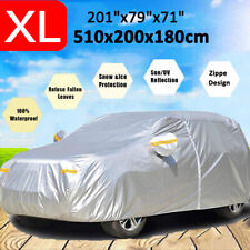 XL Car Cover Waterproof Outdoor For SUV Dust All Weather UV Protection w/ Zipper