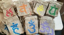 Chakra Party Favor Crystal Handpainted Sachets Lot Of All 7 Chakras