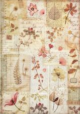 A/4 Rice Paper for Decoupage Scrapbooking Sheet Pressed flowers