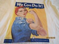 """VTG Rosie Riveter"""" We Can Do It"""" T Shirt  WW 2   womans Lg  H"""