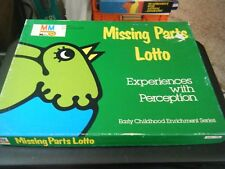 Vintage Media Materials Missing Parts Lotto Game - Experiences with Perception