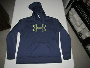 UNDER ARMOUR WOMEN'S STORM NAVY BLUE PULLOVER HOODED SWEATSHIRT SIZE XL