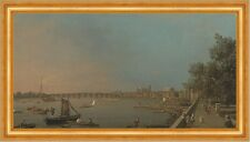Thames from the Terrace of Somerset House Canal Westminster England B A3 02094