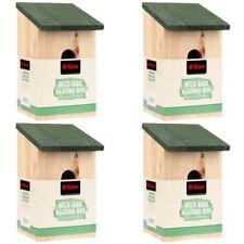 4 X WOODEN NESTING BOXES NEST BOX BIRD HOUSE SMALL BIRDS BLUE TIT ROBIN SPARROW