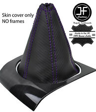 PURPLE STITCH CARBON FIBRE VINYL MANUAL GEAR GAITER FITS FORD MONDEO MK3 01-03