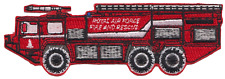 RAF Firefighting Service Scamell Mk 10 Fire Engine / Tender Embroidered Patch