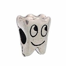 Tooth Dentist Dental Hygienist Teeth Bead for Silver European Charm Bracelets