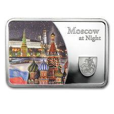 2015 Samoa Silver Moscow at Night Coin Bar Proof - SKU #91035