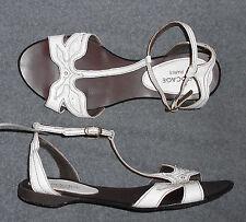 BOCAGE sandales plates cuir blanc P 38 TBE