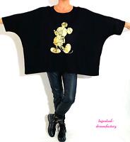 MYO-Lagenlook Oversize Big-Kasten-Shirt Schlitze M.Mouse 46,48,50,52,54,56